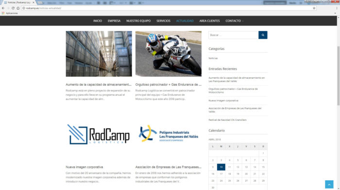 web rodcamp logistica