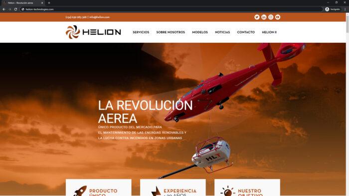 pagina web helion - empresa tecnologica