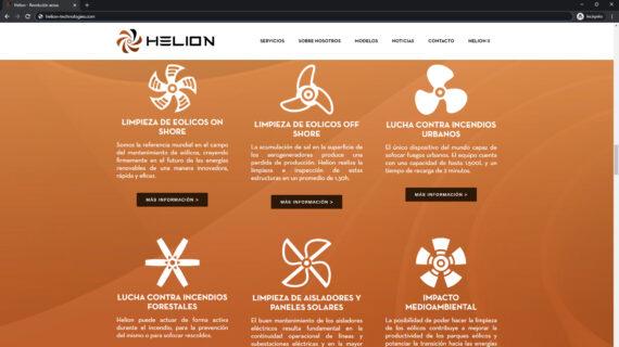 pagina web servicios helion - empresa tecnologica