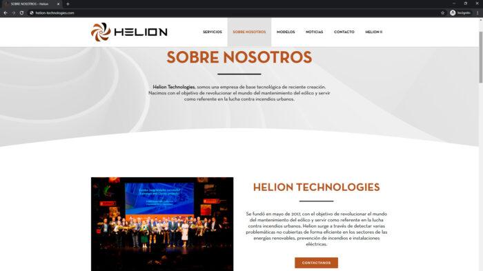 pagina web que es helion - empresa tecnologica