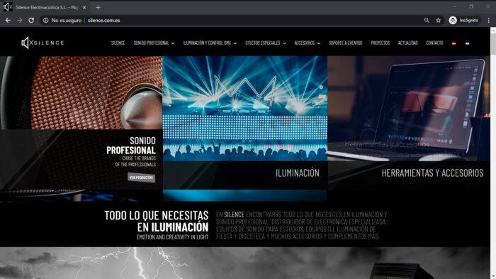 Productos profesionales de sonido, iluminación y efectos especiales