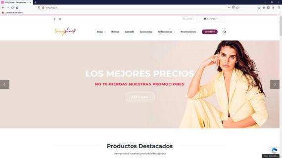 creacion web - tienda online calzados, bolsos, ropa y mas complementos para mujer