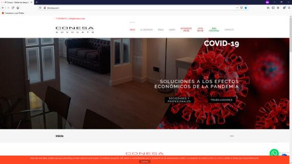 creacion web - pagina home bufete de abogados