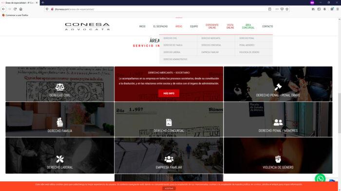 creacion web - pagina servicios bufete de abogados