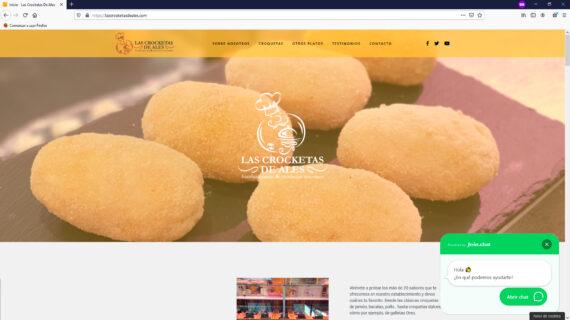 creacion web - seccion cabecera venta de croquetas y hamburguesas artesanas frescas en Madrid