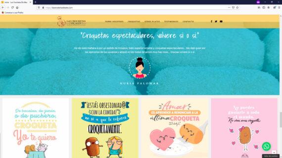 creacion web - seccion testimonios venta de croquetas y hamburguesas artesanas frescas en Madrid