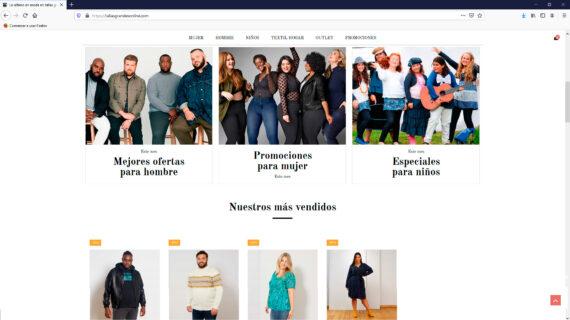 creacion web - tienda online de ropa de tallas grandes para mujer