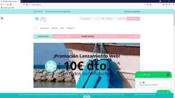 creacion web - home venta de bolsos de neopreneo