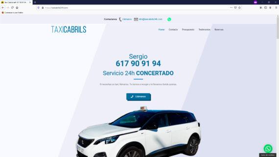 creacion web - seccion cabecera reserva taxis en Cabrils